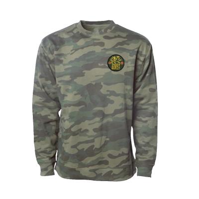 Lion Patch Crewneck Sweatshirt (Camo)