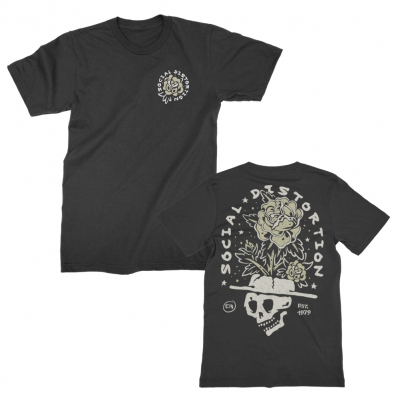 Skull Flower T-Shirt (Black)