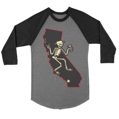 CA Skelly Raglan (Black/Grey)