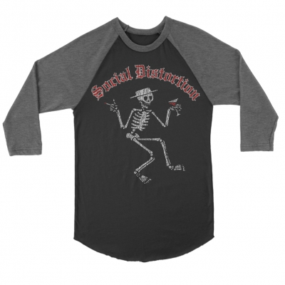 Skelly Vintage Raglan (Grey/Black)