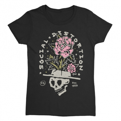 Skull Rose Women's T-Shirt (Black)