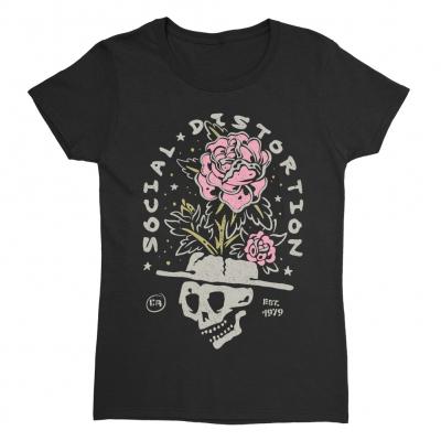 Skull Rose Women's T-Shirt (Black)