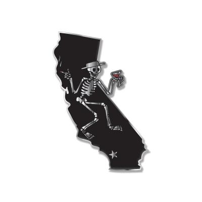 CA Skelly Enamel Pin