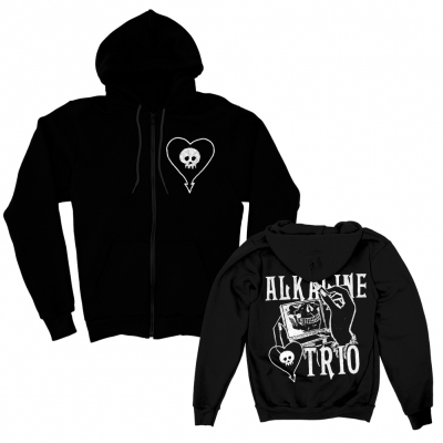 Mirror Mirror Lightweight Zip Up Hoodie (Black)