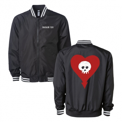 Heartskull Lightweight Bomber Jacket (Black)