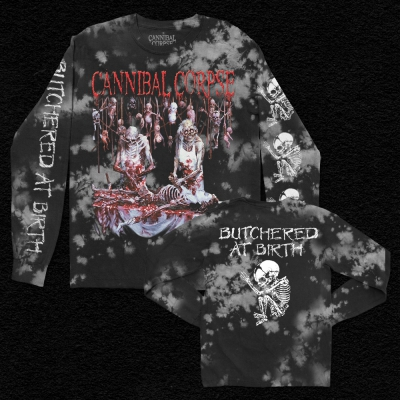 Butchered At Birth Long Sleeve (Ash Dye)