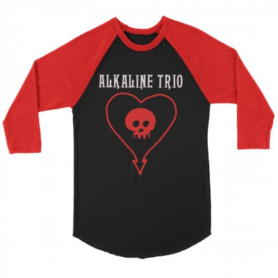 IMAGE | Classic Heartskull Raglan (Black/Red)