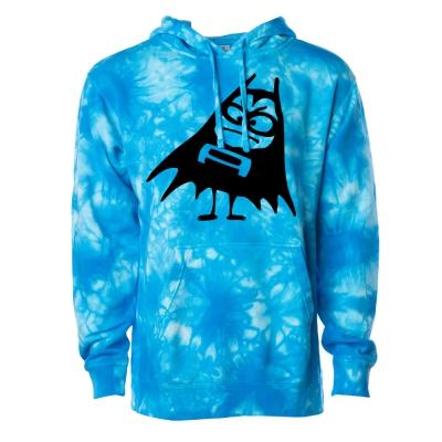 Bat Logo Dye Hoodie (Blue Dye)