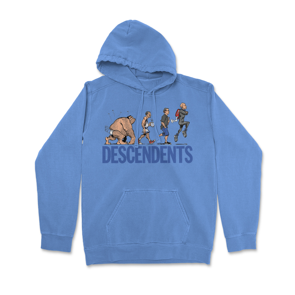 Ascent Of Man Pullover Hoodie (Blue)