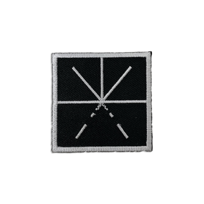Black/Silver Logo Patch