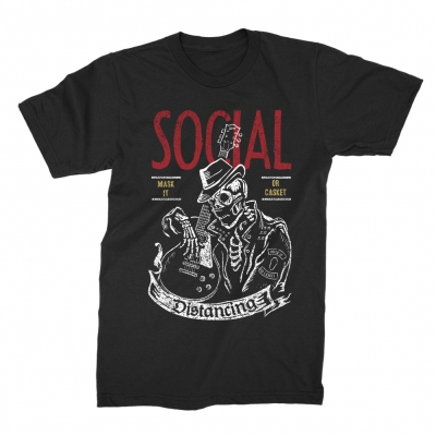 Social Distancing 2 T-Shirt (Black)