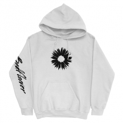 IMAGE   Mustang Flower Pullover Hoodie (White)