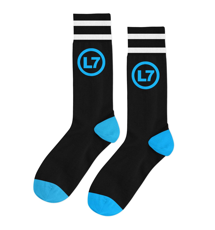 IMAGE | Logo Socks (Black/Blue)