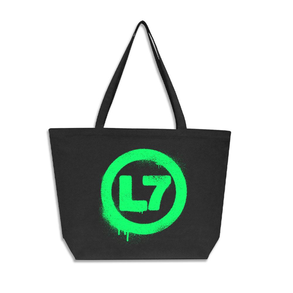 IMAGE   Spray Logo Oversized Tote Bag