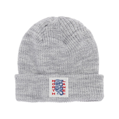 Twisted Snake Beanie (Light Grey)