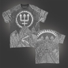 IMAGE | Trident Wolf Eclipse All Over Print T-Shirt - detail 1