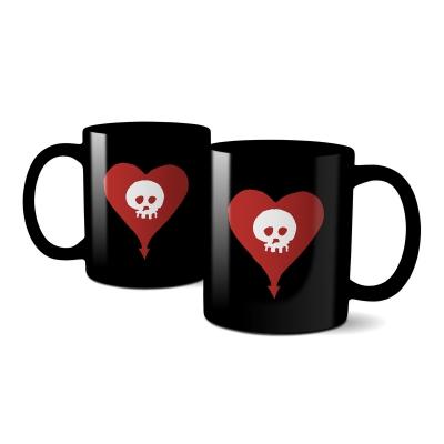 IMAGE | Heartskull Coffee Mug (Black)