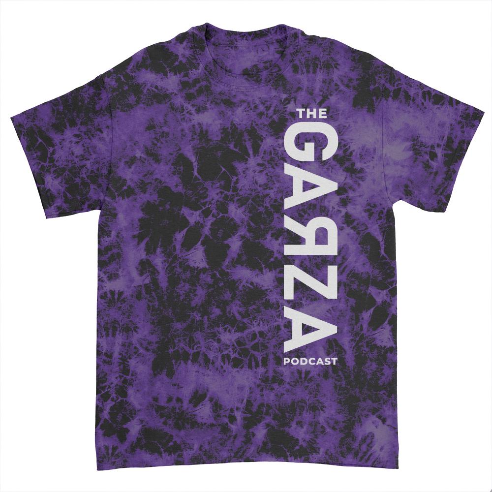 IMAGE   White Vertical Logo T-Shirt (Purple Dye)