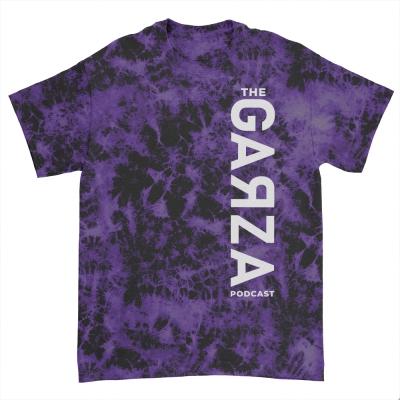 White Vertical Logo T-Shirt (Purple Dye)