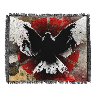 No Heroes Woven Blanket