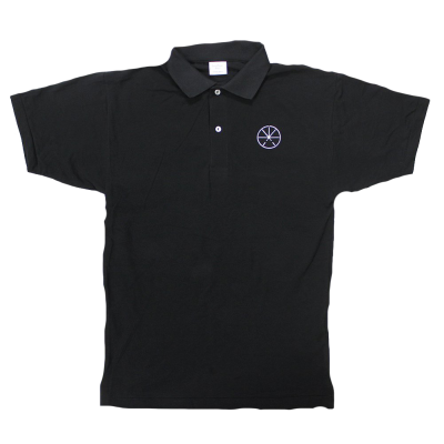 Embroidered Logo Polo (Black)