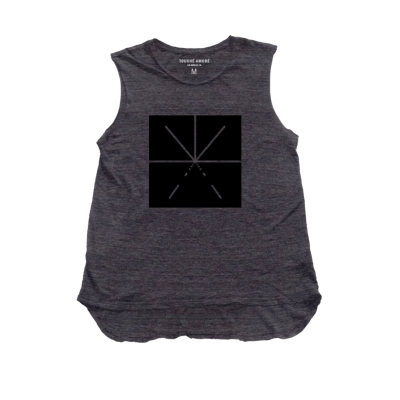 IMAGE | Women's Logo Tank (Charcoal)