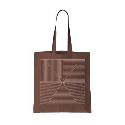 Lined Tote Bag (Brown)