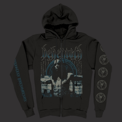 Anti-Christian Zip-Up Sweatshirt (Black)