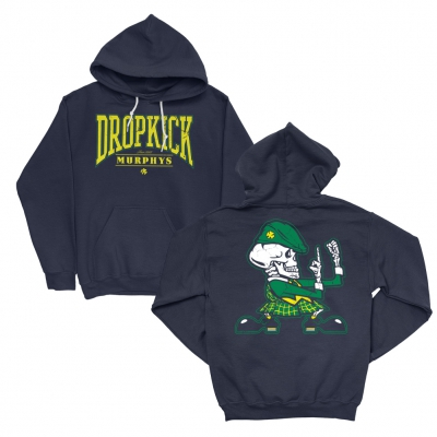 Live Stream Fist Up Pullover Hoodie (Navy)