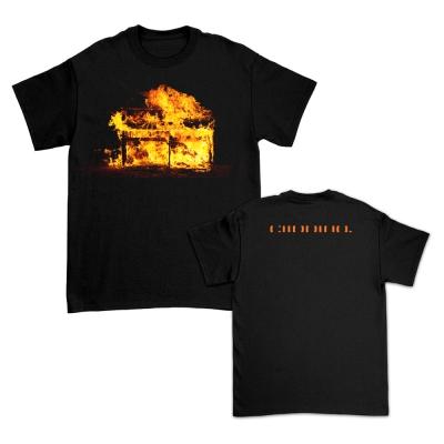 Burning Piano T-Shirt (Black)