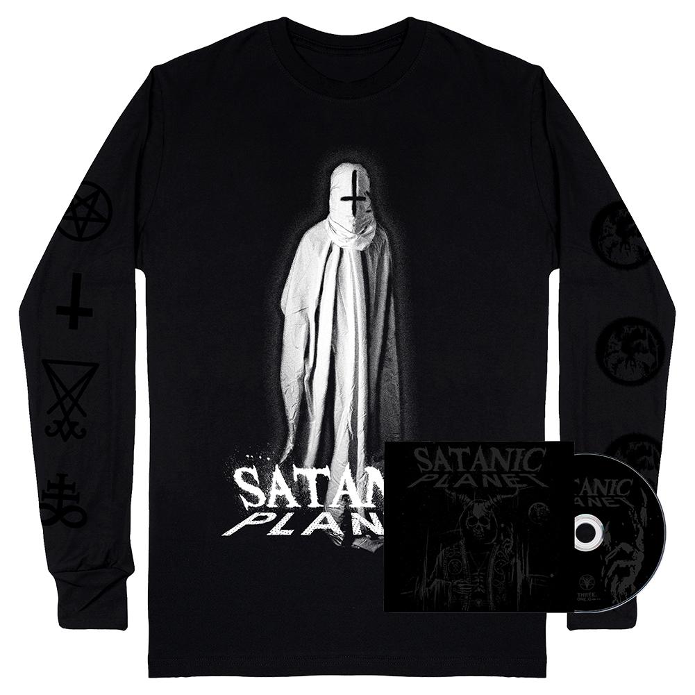 IMAGE | Satanic Planet CD & Baphomet Ghost Long Sleeve (Black) Bundle