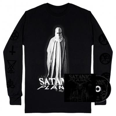 Satanic Planet CD & Baphomet Ghost Long Sleeve (Black) Bundle