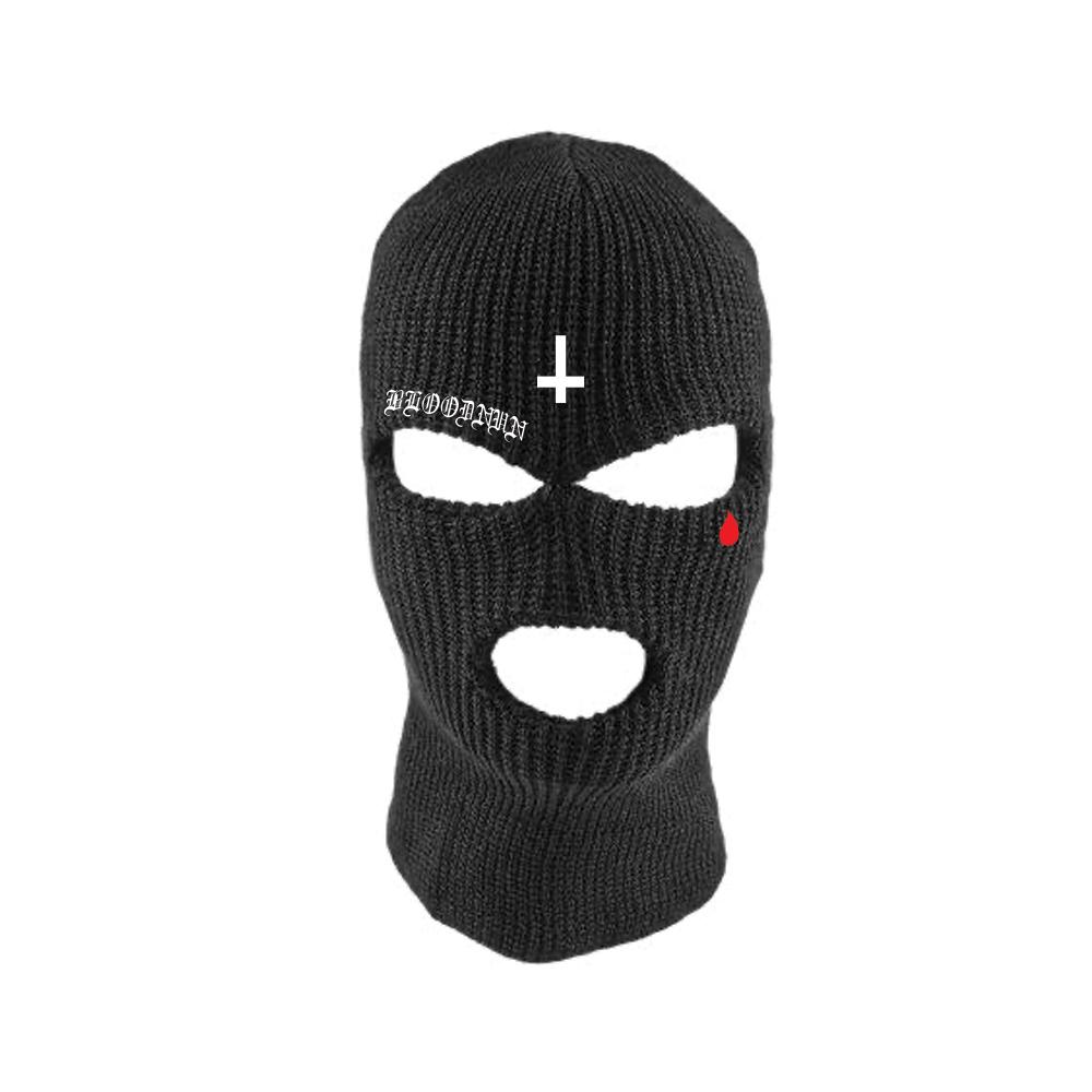 IMAGE | Bloodnun Tear Drop / Inverted Cross Ski Mask