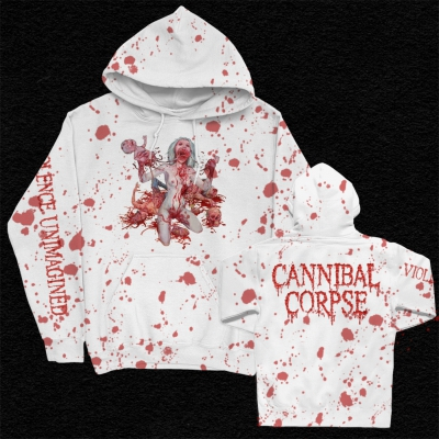 Violence Unimagined Pullover (White/Blood Dye)