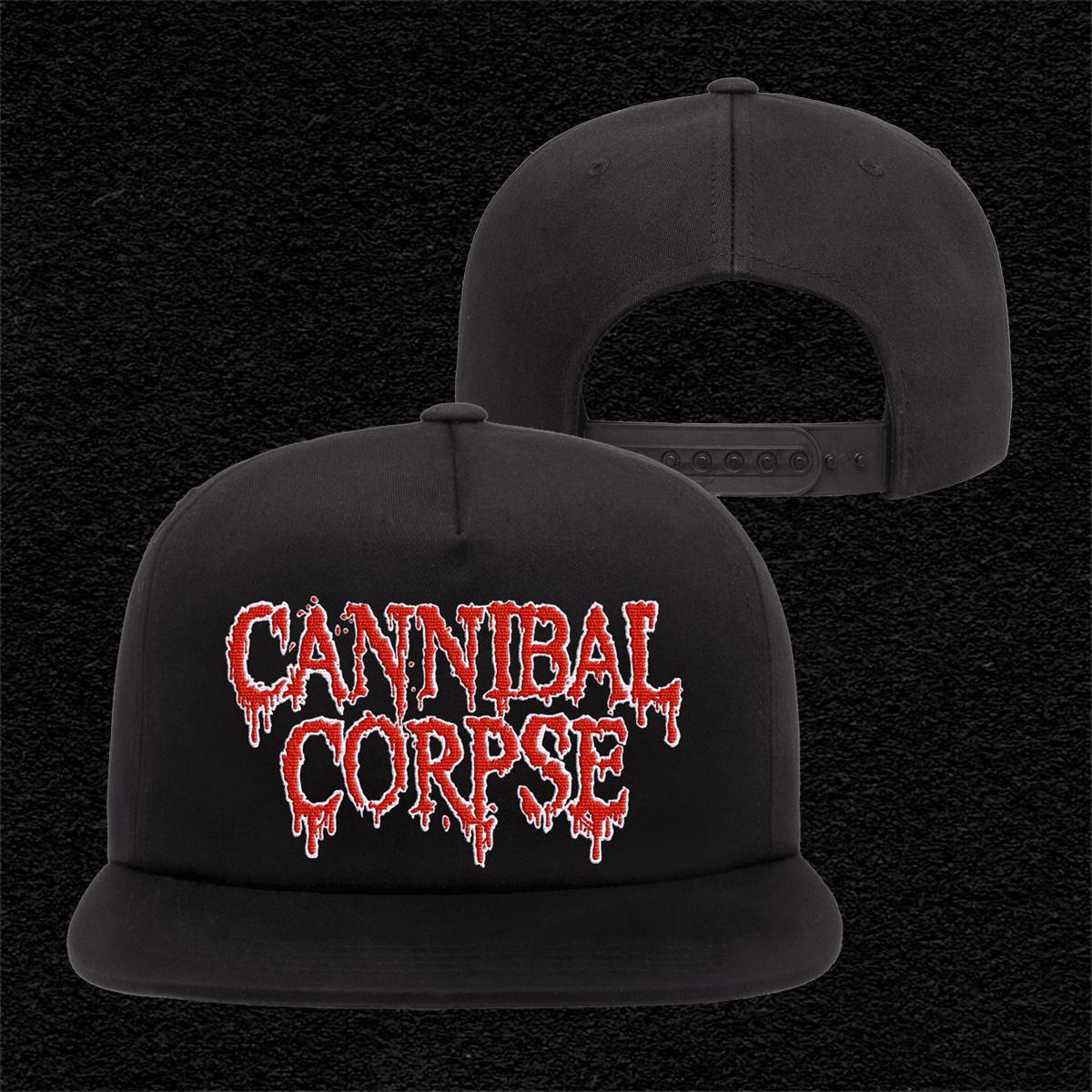 IMAGE | Embroidered Logo Snap Back Hat (Black)