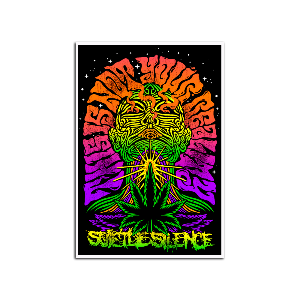 This Is Not Your Reality Black Light Poster