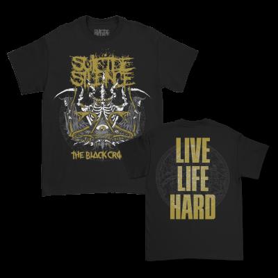 Live Life Hard T-Shirt (Black)
