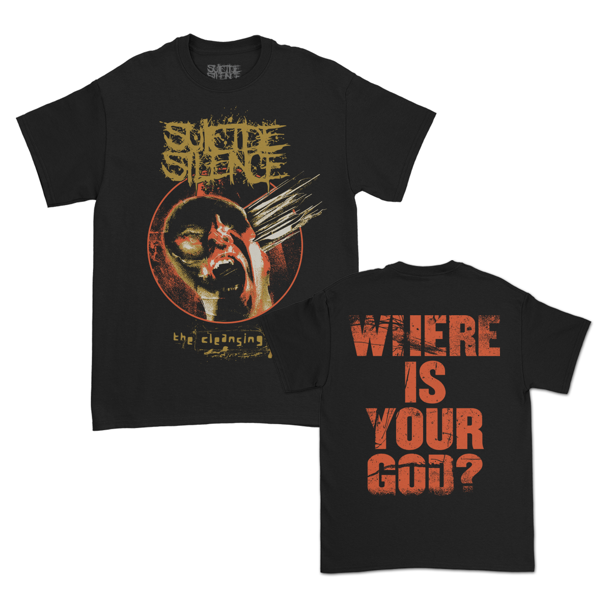 Where Is Your God? T-Shirt (Black)