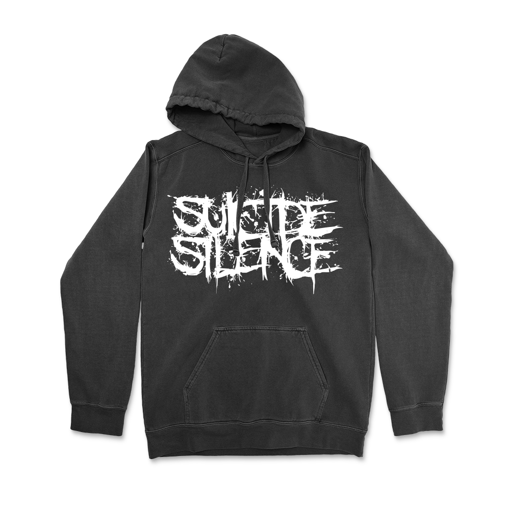 Logo Pullover Hoodie (Pigment Dyed Black)