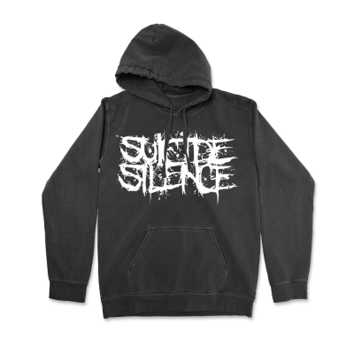 IMAGE | Logo Pullover Hoodie (Pigment Dyed Black)