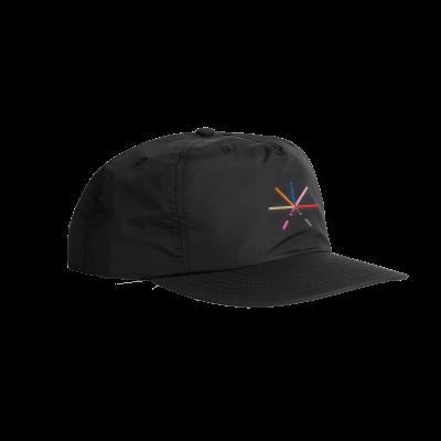 IMAGE | 7 Color Asterisk Snapback Hat (Black)