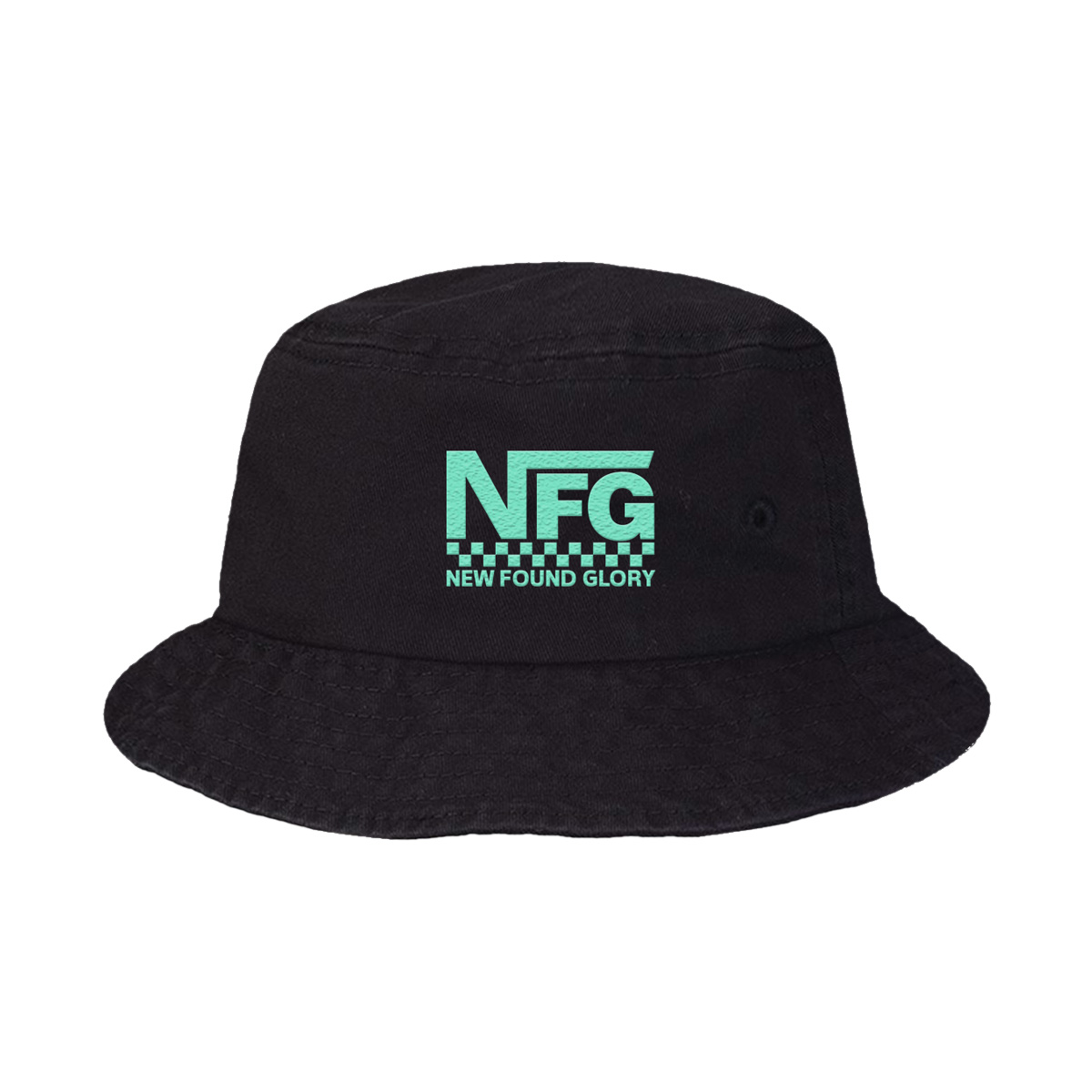 Checker Logo Bucket Hat (Black)