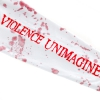 IMAGE   Violence Unimagined Pullover (White/Blood Spray Dy - detail 2