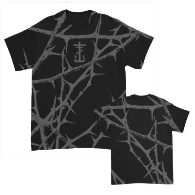 IMAGE   Thorns All Over Print T-Shirt (Black)