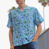 IMAGE | Milo Desert Button Up Shirt (Baby Blue) - detail 2