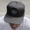 IMAGE | Metal Butterfly Logo Snapback Hat (Grey) - detail 2