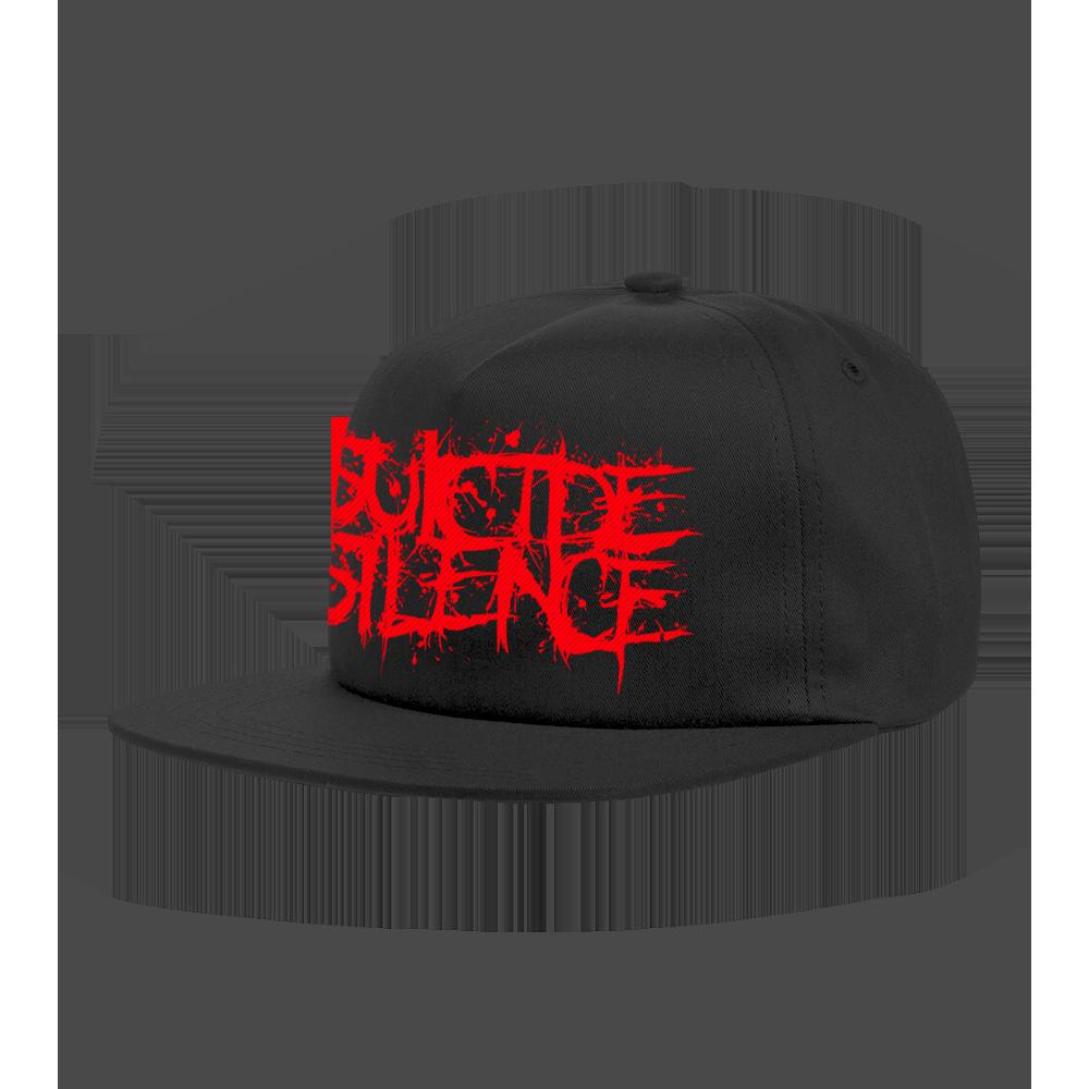 IMAGE | Red Logo Embroidered Snapback (Black)