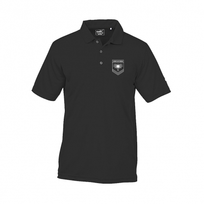 IMAGE | Rising Sun Logo Golf Polo Shirt (Black)