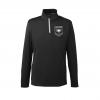 IMAGE   Rising Sun Logo Quarter Zip Golf Pullover (Black) - detail 1