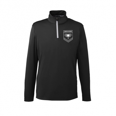 IMAGE   Rising Sun Logo Quarter Zip Golf Pullover (Black)